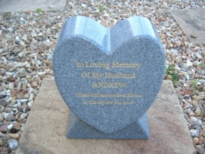 Heart Monument Cremation Urn Holds Ashes Indoor or Out