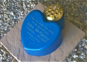 Big Heart Cremation Urn Holds Ashes Indoors Or Out