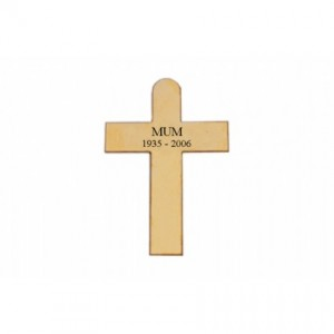Brass Cross 12cmx17cm