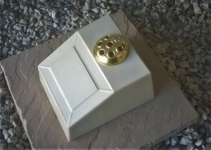 Formal Cremation Urn With Flower Holder, Holds Ashes Indoor or Out