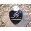 Small Heart Cremation Urn Holds Ashes Indoor or Out